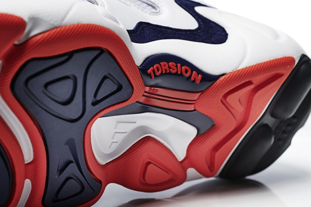 watch 3079a e6a45 ... red and blue colorway and the  Freddie  face logo, to the combination  of mesh, leather and wired eyestays  every other detail in the new adidas  FYW S-97 ...